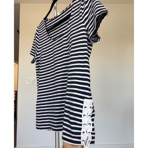 J Crew Striped Lace Up Side Shirt